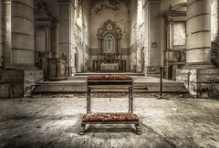kneel and pray for a better world (marco18678) Tags: nikon d750 tamron 1530 lost pray church old abandoned decay decayed eu ue world europe beautiful forgotten belgium photography pixanpictures natural light naturallight hidden history better kneel mysterious religion religious