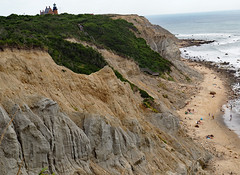 Mohegan Bluffs (Rick Payette) Tags: blockisland rhodeisland m43 em10ii landscape rockformation erosion rock crag cliff