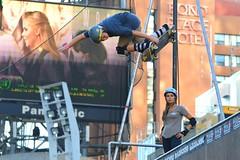 Midair Vert Skateboarder Evan Doherty .... Dundas Square .... Toronto, Ontario (Greg's Southern Ontario (catching Up Slowly)) Tags: evandoherty skateboarderevandoherty ameliabrodka skateboarderameliabrodka toronto skateboarding skateboarder ontario dundassquare nikon nikond3200 sportsphotography sports vertskateboarding vertramp