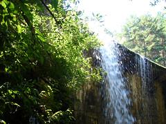 Inicio del salto de agua. (margabel2010) Tags: cascadas cascada presas presa ramas hojas flora sierra guadarrama airelibre agua aguadulce solysombra rboles