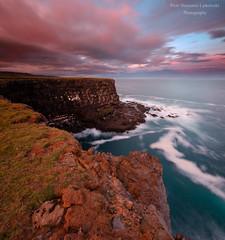 Krysuvik cliff (piotr.pl) Tags: cliff krysuvik iceland landscape sunset edge piotr slawomir latkowski photography iamnikon nikond7000 tokina 1120
