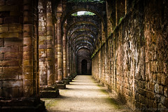 Abbey Isle (jasonmgabriel) Tags: fountains abbey religous building pillar arch path nave yorkshire ruin