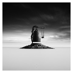For Whom the Bell Tolls (picturedevon.co.uk) Tags: sidmouth devon fineart photography seascape bw blackandwhite le longexposure asian culture minimal sea sky