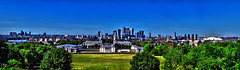 London, The United Kingdom. Skyline | August 2016 (Temphotto) Tags: skyline london uk united kingdom skyscarpers greenwich thamse tree city town nikon d40 hdr high dynamic range greater cs cs5 adobe photoshop sky blue summer 2016