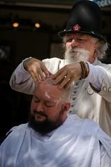 Barber Surgeon is hard at work (Pahz) Tags: gsmbristol barber barbersurgeon shave reenactor historical bristolrenaissancefaire renfaire renfest kenoshawisconsin pattysmithbrf brf nikond5100 photography