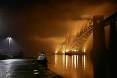 sea haar (UndaJ) Tags: bridge firthofforth night mist fog queensferry haar forth sea