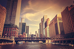 Illusion II (Anthonypresley1) Tags: chicago illinois anthony presley city urban building buildings architecture river bridge people sky cloud clouds anthonypresley