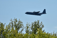 C-130 door open fly by (PJMixer) Tags: cne nikon toronto aircraft airplane airshow trees