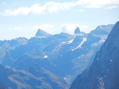 Vue de la Cime Est du Matto (à gauche de l'Argentera) : Clapier et Malédie