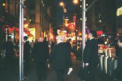 NYC by night (Hummingdust) Tags: nyc new york nikon nikondf 50mm nikkor city lights night