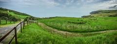 Somewhere in West Wales (joshuaholmes1) Tags: summer irishsea urdd llangrannog clouds landscape wales westwales panorama iphone6s iphone landscapehdr hdr