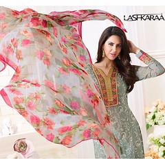 Grey Georgette Straight Churidar Suit (lashkaraafashion) Tags: churidarsuit salwarkameez jacketstylesalwarsuits designerchuridar