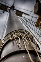 Ahull (flashfix) Tags: september172016 2016 2016inphotos nikond7000 nikon brockville ontario canada 40mm ship empiresandy tallship tallshipsbrockville poles ropes notes widowmaker lines