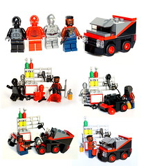 The real story of A-Team's van (Vanjey_Lego) Tags: lego minifig minifigs minifigure minifigures ateam mister mistet baracus agencetousrisques barracuda van gmc starwars protocol drod