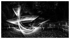 Lightpainting .. (:: Blende 22 ::) Tags: black white bw schwarz weis schwarzweis blackandwhite light painting park garden night lightshadow shadow malerei lichtmalen deutschland germany thuringia thringen landkreis eichsfeld eic heilbadheiligenstadt kurpark canoneos5dmarkiv ef2470f28liiusm