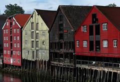 Four (DanielaNobili) Tags: trondheim norge norway caseanseatiche rosso red danielanobili