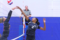 IMG_9841 (SJH Foto) Tags: girls volleyball high school stroudsburg pa pennsylvania team tween teen teenager varsity net battle spike block action shot jump midair