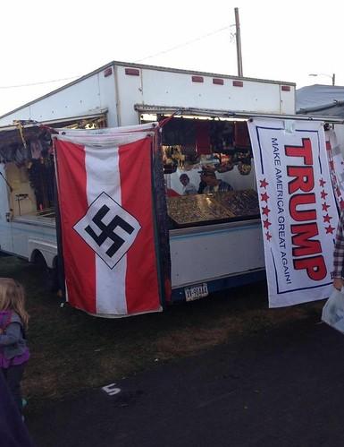 Bloomsburg Fair nazi flag Trump