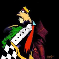 Chess (Eddy Allart) Tags: art arte kunst drawing dibujo cartoon sketch schets ajedrez schaken koning king rey