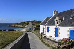 Les volets bleux (Ile de Batz, Finistre) (chando*) Tags: blanc bleu blue bretagne brittany finistre house maison mer sea white ledebatz