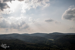 Thuringian Forest (judithrouge) Tags: view aussicht lanschaft landscape wolken clouds sun sonne rays strahlen thuringian forest wood thüringen thüringerwald germany deutschland