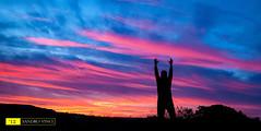 Emozioni - I colori dell'infinito - The colors of infinity (Sandro Vinci) Tags: pink sunset sky people panorama cloud sun colors silhouette clouds landscape amazing nikon tramonto nuvole photographer emotion blu magenta sigma sharpen 1020mm viola nero spettacolo contrasto emozione d80 sandrovinci