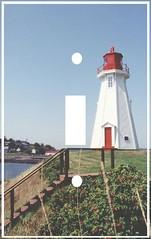 Mulholland Pt lighthouse single switchplate (Charlotte Clarke Geier) Tags: computer print crafts digitalart computercrafts