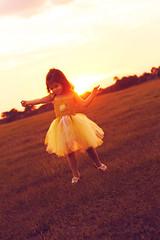 Dance (Kristi1228) Tags: sunset girl field yellow canon outdoors rebel dance toddler pretty child tutu t3i