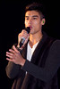 Silva Kaneswaran of The Wanted, at the switch on of the Meadowhall Christmas Lights at Meadowhall. Sheffield, England