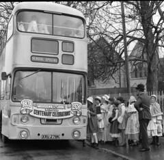 Bournemouth St John's School Moordown (theirhistory) Tags: boy england bus girl hat child dress 1978 bournemouth centenary 1878