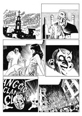 Tumba de miel, p.4 (harveygodson) Tags: blackandwhite ink comic drawing horror terror comicpage originaldrawing tumbademiel javigodoy