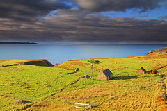 A View from the Peninsula. (Gordie Broon.) Tags: ocean sea seascape nature landscape geotagged photography scotland scenery alba ruin scenic escocia lonetree schottland ecosse outerhebrides scotspine westernhighlands northwestscotland theminch innersound applecrosspeninsula isleofrona canoneos7d gordiebroon desertedcroft