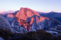Alpenglow on Half Dome (mpurciel) Tags: california photography landscapes elite yosemite yosemitenationalpark nationalparks anseladams alpenglow yosemitevalley ansel landscapephotography bestnaturetnc06 anawesomeshot