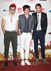 "Musicians Jack Antonoff (l-r)Nate Ruess and Andrew Dost of ""Fun"" The MTV EMA's 2012 held at Festhalle - arrivals Frankfurt, Germany"