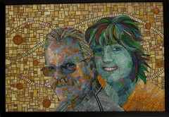 Dave & Suzi (Ginny Sher) Tags: portrait color art face couple head mosaic stainedglass human