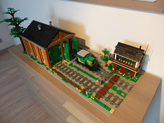 012 (michaelozzie1) Tags: train lego shed engine moc