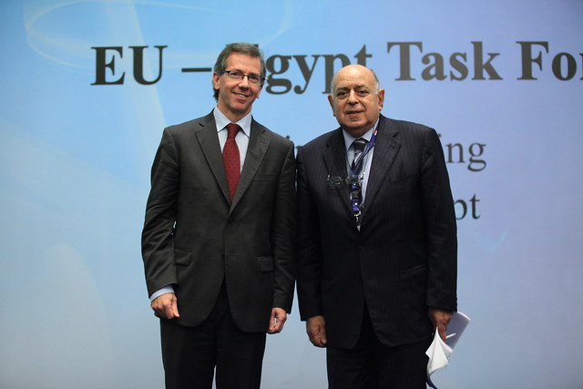 EU Special Representative Bernadino Leon with Nehad Abdelatif, Ministry of Foreign Affairs