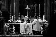 The blessing (Bart Kok) Tags: blackandwhite italy rome blackwhite italia bishop incense wierook bisschop zegening