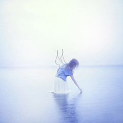 Purpose (Beata Rydn) Tags: ocean water angel canon square 50mm freedom sketch wings soft imagination dreamy purpose imaginative fineartphotography softtones softcolors womanphotographer canon5dmarkii texturebylesbrumes sketchedwings womanstandinginwater beatarydn