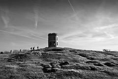 Pilgrimage. (sidibousaid60) Tags: uk blackandwhite bw blancoynegro buxton derbyshire solomonstemple grinlowtower