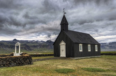 The black Church (Fil.ippo) Tags: travel black church landscape island iceland nikon worship nero hdr filippo paesaggio bir islanda sigma1020 chiesta d7000 filippobianchi