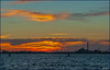 Venezia Venice Venedig - Mestra set fra Venedig solnedgang (Bernt Nielsen) Tags: italien venice sunset sea sky italy golden evening mar seaside italia mare venezia venedig hav solnedgang gylden mestra