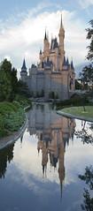 Castle Reflection (LVnative) Tags: reflection castle orlando nikon florida waltdisneyworld magickingdom lvnative d3100