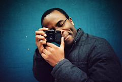 Adewale shooting me (lomokev) Tags: camera blue portrait england man male person lomo lca xpro lomography crossprocessed xprocess brighton photographer unitedkingdom lomolca human lomograph kodakelitechrome adewale shotonhscourse lomographyxprochrome100 roll:name=121117lomolcaxpro100 file:name=121117lomolcaxpro10032