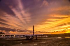 Fair Isle airstrip. Late November afternoon. (dawadderman) Tags: cumulushumilis cumulusfractus