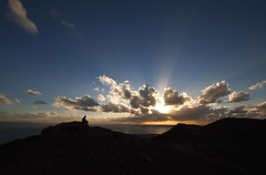 On top of Ol' Smokey - Explore 25.11.12 - Thanks (Jo Evans1 - off and on for a while) Tags: sunset clouds volcano ol montana top lanzarote playa blanca smokey rays extinct roja crepuscular