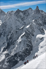 aiguille du midi (heavenuphere) Tags: snow france mountains alps sports nature sport clouds alpes landscape outdoors outdoor extreme adventure climbing alpine chamonix montblanc massif aiguilledumidi hautesavoie rhnealpes chamonixmontblanc tlphriquedelaiguilledumidi