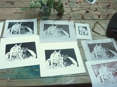 Natural Forms (and dogs!) in Linocut (ArtisOn Masham) Tags: print printmaking linocut workshops masham artison craftworkshops hestercox