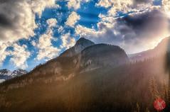 Majestic (Kasia Sokulska (KasiaBasic)) Tags: light summer sky mountain canada mountains clouds evening nationalpark rocky alberta banff lakelouise