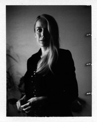 Nomi (Yves Roy) Tags: city shadow urban blackandwhite bw black contrast dark polaroid austria blackwhite moody goose yr 75mm 600se fav10 ricohgrd fujifp blackwhitephotos polaroid600se grdiii yvesroy yrphotography fujib3000 3000bpeelapartfilm rawfestspielhaus